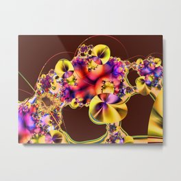 Hibiscus in Yellow Metal Print
