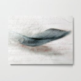 DOVES FEATHER Metal Print