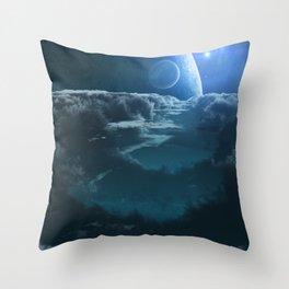 Alien Cloudscape Throw Pillow