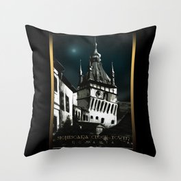 #SighisoaraClockTower IV Throw Pillow