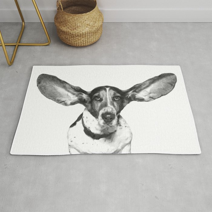 Black And White Dog Ears Rug By Alemi