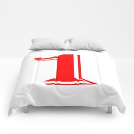 One red Comforters