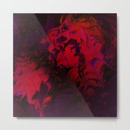 Hidden Face in the Red Metal Print