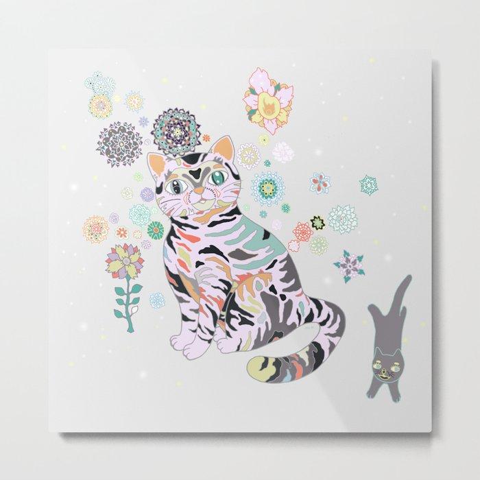 catflowers Metal Print