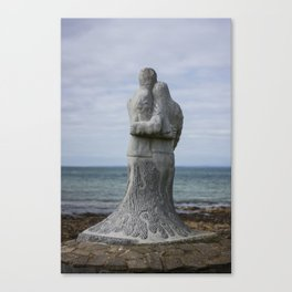 Vigil Sculpture by Ciaran O'Brien on the Memorial Trail at Kilmore Quay. Canvas Print