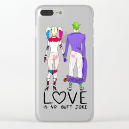 LOVE is no BUTT Joke - Handwritten Clear iPhone Case