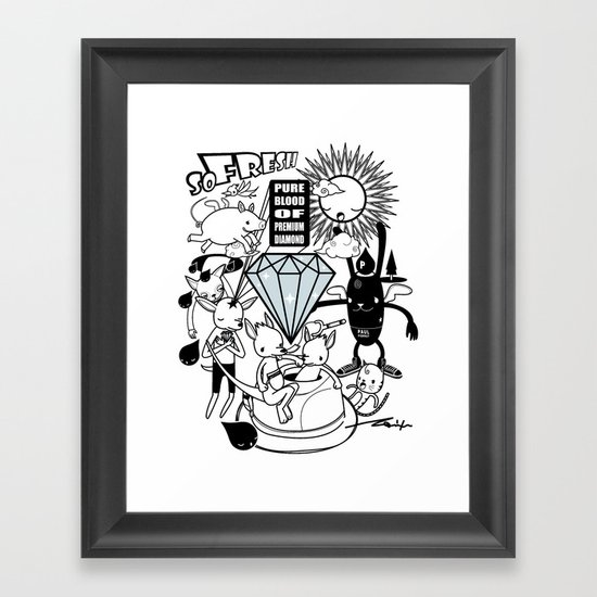 SO FRESH DIAMOND Framed Art Print