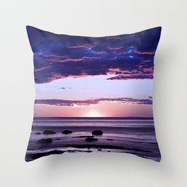 Coastal Sunset Sainte-Anne-Des-Monts Throw Pillow
