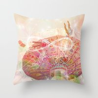 forever young Throw Pillows featuring Forever Young by Lisa Argyropoulos