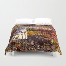 Semi-Abstract Leaning Tower of Pisa Duvet Cover
