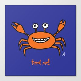 Mr and Mrs Cabby Amanya Design Blue Single FEED ME! Canvas Print