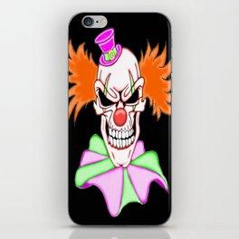 Demented Clown Skull iPhone Skin
