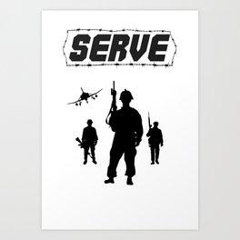 Serve Art Print