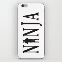 ninja iPhone & iPod Skins featuring NiNJA by chanchan