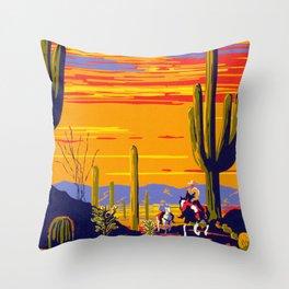 Saguaro National Monument Throw Pillow