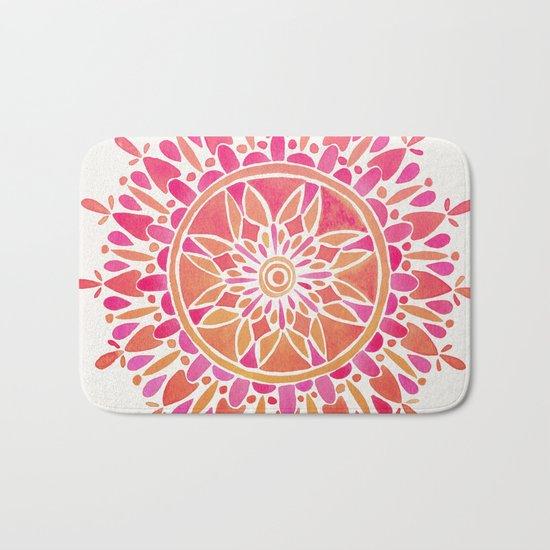 Mandala – Pink Ombré Bath Mat