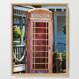 Telephone Box Serving Tray