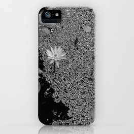 Black and White Lily Pond iPhone Case
