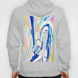 Plant in Blue Marker - Leaf of Life Miracle Leaf - Rainbow Colorful 2 Hoody