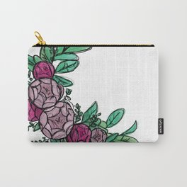 Roses Wreath Carry-All Pouch