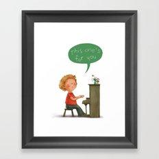 Little Pianist Framed Art Print