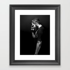 Ryan Dunn... A Book of Beards Framed Art Print