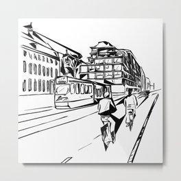 Amsterdam street Metal Print