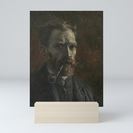 Self-Portrait with Pipe Mini Art Print