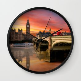London Sunset Wall Clock