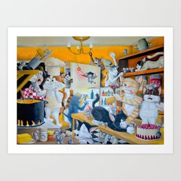 Chaos in the Kitchen Art Print