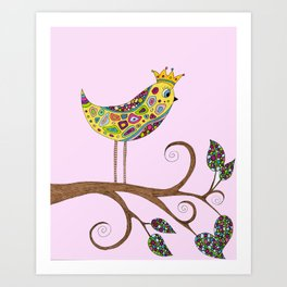 Bird Talk Art Print
