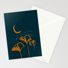 """""""Let Light Be A Sweet Rebellion In The Shadows"""" Stationery Cards"""