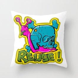 Recycle Reuse Snail Throw Pillow