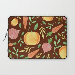 Colorful fruits & vegetable pattern Laptop Sleeve