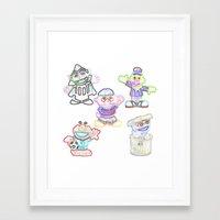 sesame street Framed Art Prints featuring Sesame Street  by Beastie Toyz
