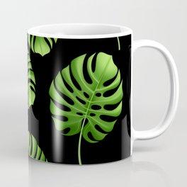Black Tropical leaves Coffee Mug