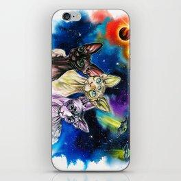 Alien Sphynx bros iPhone Skin