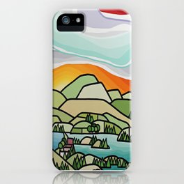 Lakes and Orchards iPhone Case
