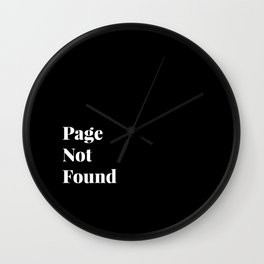 Page not found Wall Clock