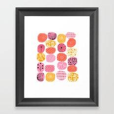 summer garden stories Framed Art Print