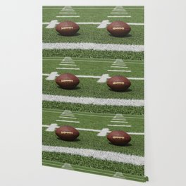 American Football Court with ball on Gras Wallpaper