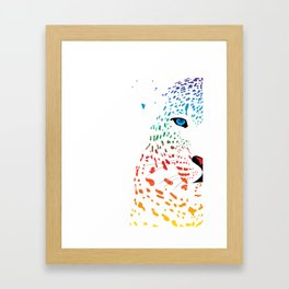 Ice Blue Framed Art Print