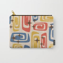 Mid Century Modern Cosmic Galaxies 436 Red Yellow and Blue Carry-All Pouch