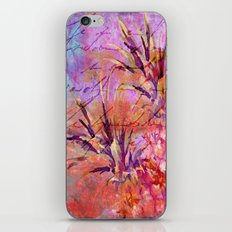 Pineappel tropical fruit colorful illustration iPhone & iPod Skin