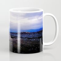 homer Mugs featuring Homer Spit  by Julia Blanchette