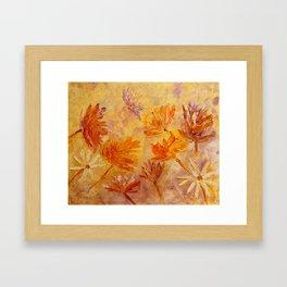 Blaze Of Gold Framed Art Print