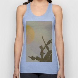 Sunset cactus Unisex Tank Top