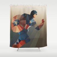 captain silva Shower Curtains featuring Captain by Ed Burczyk