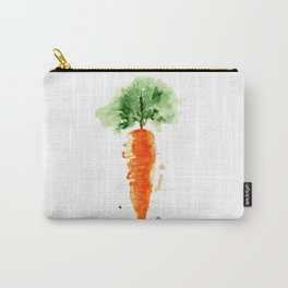 Watercolor orange carrot. Organic vegetable. Original watercolour illustration. Carry-All Pouch