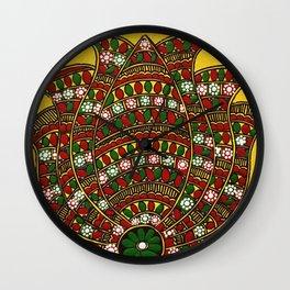 Madhubani Lotus Wall Clock